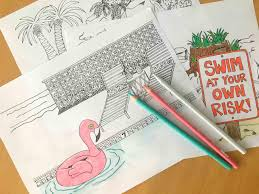 flip or flip selling summer inspired coloring sheets