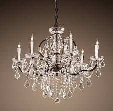 Plug In Crystal Chandelier Traditional Dining Room With Wainscoting Crown Molding In Rococo