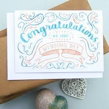 congratulations card congratulations wedding card by nic farrell illustration