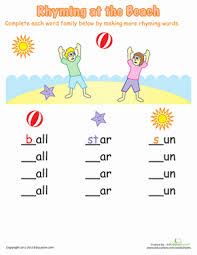 free worksheets worksheets for rhyming words free math