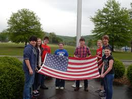 Displaying The Us Flag Ccms Students Honor The Flag Clinton County Schools
