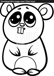 cartoon kawaii hamster coloring page vector yayimages com