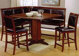 amazon com 6pc counter height dining table u0026 stools set dark