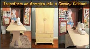 sewing armoire transform an armoire into a sewing cabinet diy scoop