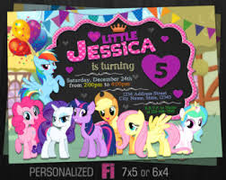 little pony birthday etsy