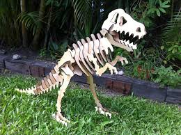 3d dinosaur puzzle t rex large wooden jurassic inspired
