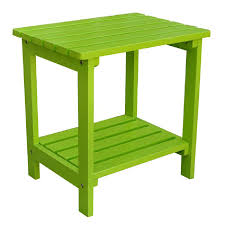 Lime Green Table L Shop Shine Company 14 In W X 19 75 In L Rectangular Cedar End