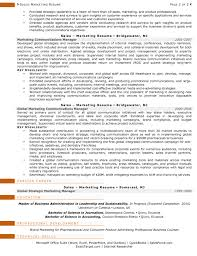 Resume Format For Journalism Jobs by Resume Samples For Sales And Marketing Jobs
