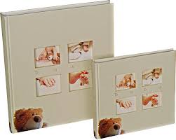 Baby Photo Albums Walther Classic Teddy Bears Small Baby Albums With White Pages