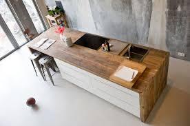 table cuisine en bois plan de travail cuisine en 71 photos idées inspirations conseils