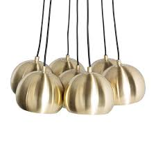Esszimmerlampen Messing Pendelleuchte Gold Rush I Metall 7 Flammig Zuiver A