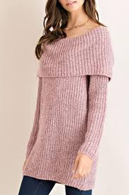 Entro Off Shoulder Tunic Sweater From Virginia By Mod U0026soul