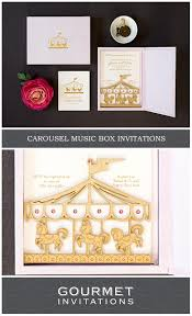 carousel invitation a baby shower music box invitation gourmet