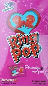 personalized ring pops valentines day ring pop strawberry flavored cupid