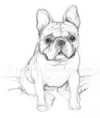 just a quick sketch of a french bulldog puppy on a sunday