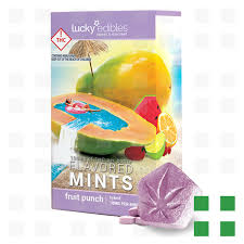 fruit edibles lucky edibles mints fruit punch 100mg frosted leaf colfax