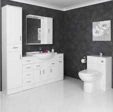 White Gloss Vanity Unit Basin  Toilet Mm - Bathroom cabinets in white gloss