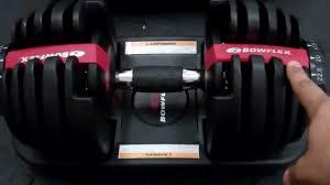 bowflex selecttech 552 adjustable dumbbells review youtube
