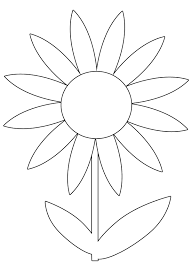 free spring flower printable coloring image clip art pinterest