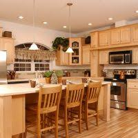 Maple Wood Kitchen Cabinets Cool Small L Shape Kitchen Design Using Light Sage Green Kitchen