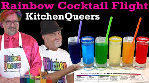 rainbow cocktail drink kitchen rainbow cocktail flight tutorial s3e5 hd youtube