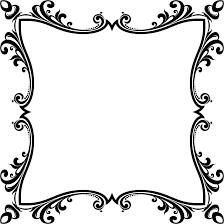 clipart decorative ornamental flourish frame aggrandized 6