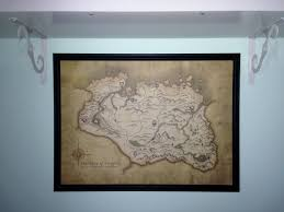 Framed Map Of The World by After Years Of Procrastinating I Finally Framed The Skyrim