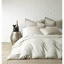 natural linen comforter com washed linen natural queen duvet cover home kitchen