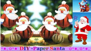 how to make a paper santa paper ball santa easy christmas