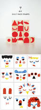 diy silly face stamps via mermag silly faces kids art