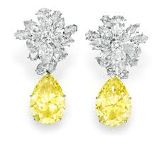 s diamond earrings s yellow colored diamond and diamonds ear pendants