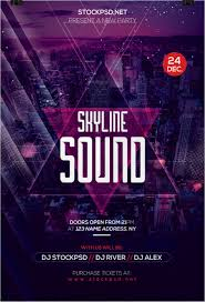 skyline sound download psd free flyer templates by stockpsd on