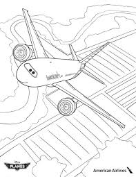 planes coloring pages image american airlines plane in disney planes coloring page jpg