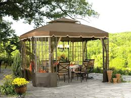 Backyard Covered Patio Ideas by Patio Room Designs Image Of Beauty Large Gazebo Canopy From Red