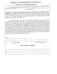 Early Termination Of Lease Letter 30 Day Notice Template