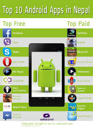 top ten android top 10 android apps in nepal infographic