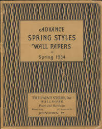 advance spring styles wall papers spring 1934 wallpaper