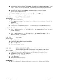Receptionist Job Duties Resume by Resume