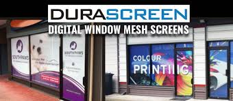 digital window durascreen window signage digital window mesh screens durasign