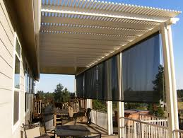 Sunscreen Patios And Pergolas by Patio Shades Roll Up For Outdoor Kitchen Blinds Shade Amazing