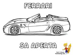 ferrari to print at yescoloring dessincoloriage
