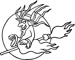 Halloween Coloring Pages Witch Print Holidays Coloring Pages Evil Women Flying On Broom Coloring