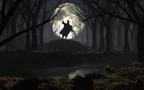 spooky background halloween rider in the spooky forest wallpaper 1 jpg 1920 1200 photoshop