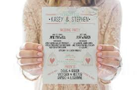 printable wedding programs printable wedding program you can print right now
