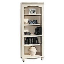 5 Shelves Bookcase Sauder Harbor View 5 Shelf Bookcase Antiqued White By Office Depot