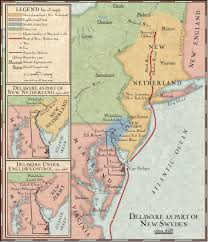 Algonquin Map Delaware As Part Of New Sweden National Geographic Society