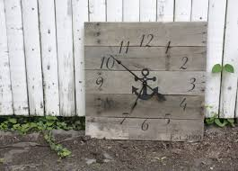 themed wall clock large nautical themed wall clock reclaimed wood house