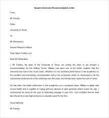 letter of recommendation format 27 recommendation letter templates free sle exle format
