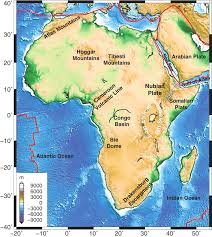 africa map review towards a better understanding of topography a review of