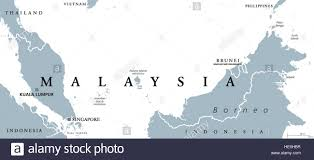 Asia Map With Capitals by Malaysia Political Map With Capital Kuala Lumpur In Asia With